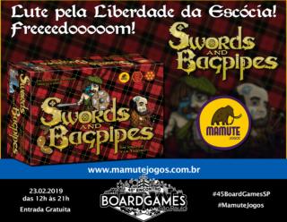 Promo - Mamute Jogos - Swords & Bagpipes